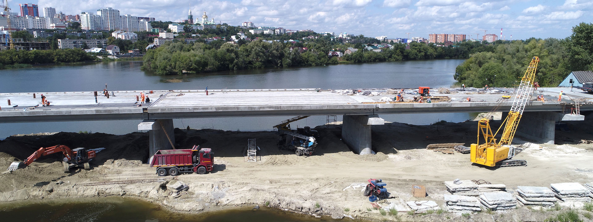 Строительство дорог, развязок и пешеходных зон